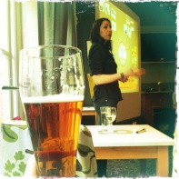 Dr Gemma Modinos, Neuroscientist, speaking at Pint of Science